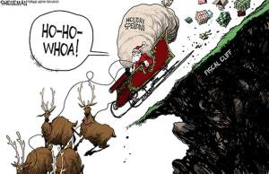 fiscal cliff--Santa going over