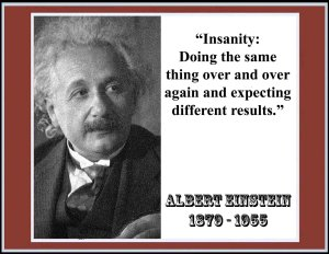 Einstein image on insanity