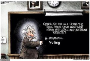 Einstein on Voting---insanity