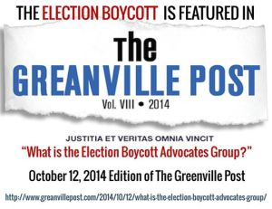 Greanville Post image on Election Boycott