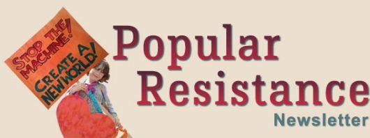 Popular Resistance Newletter heading