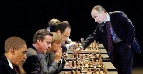 Putin playing chess with the West