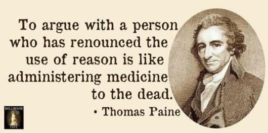 Thomas Paine image on reason