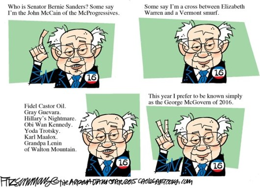 Who is Bernie Sanders--caricature