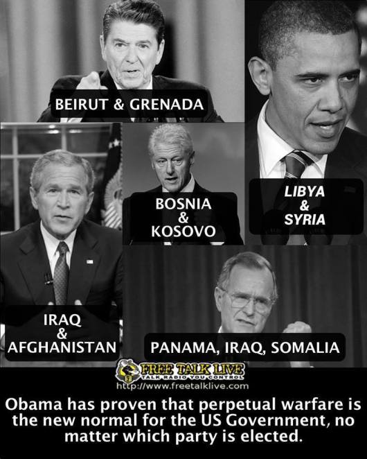 Perpetual warfare by presidents