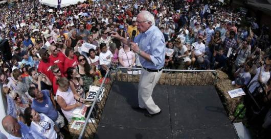 Bernie on stage--Swanson article