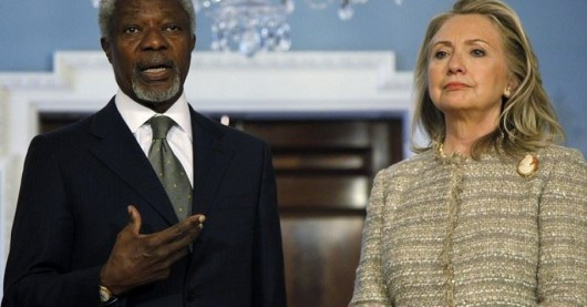 Clinton for Bloodbath in Syria with Kofi Annan